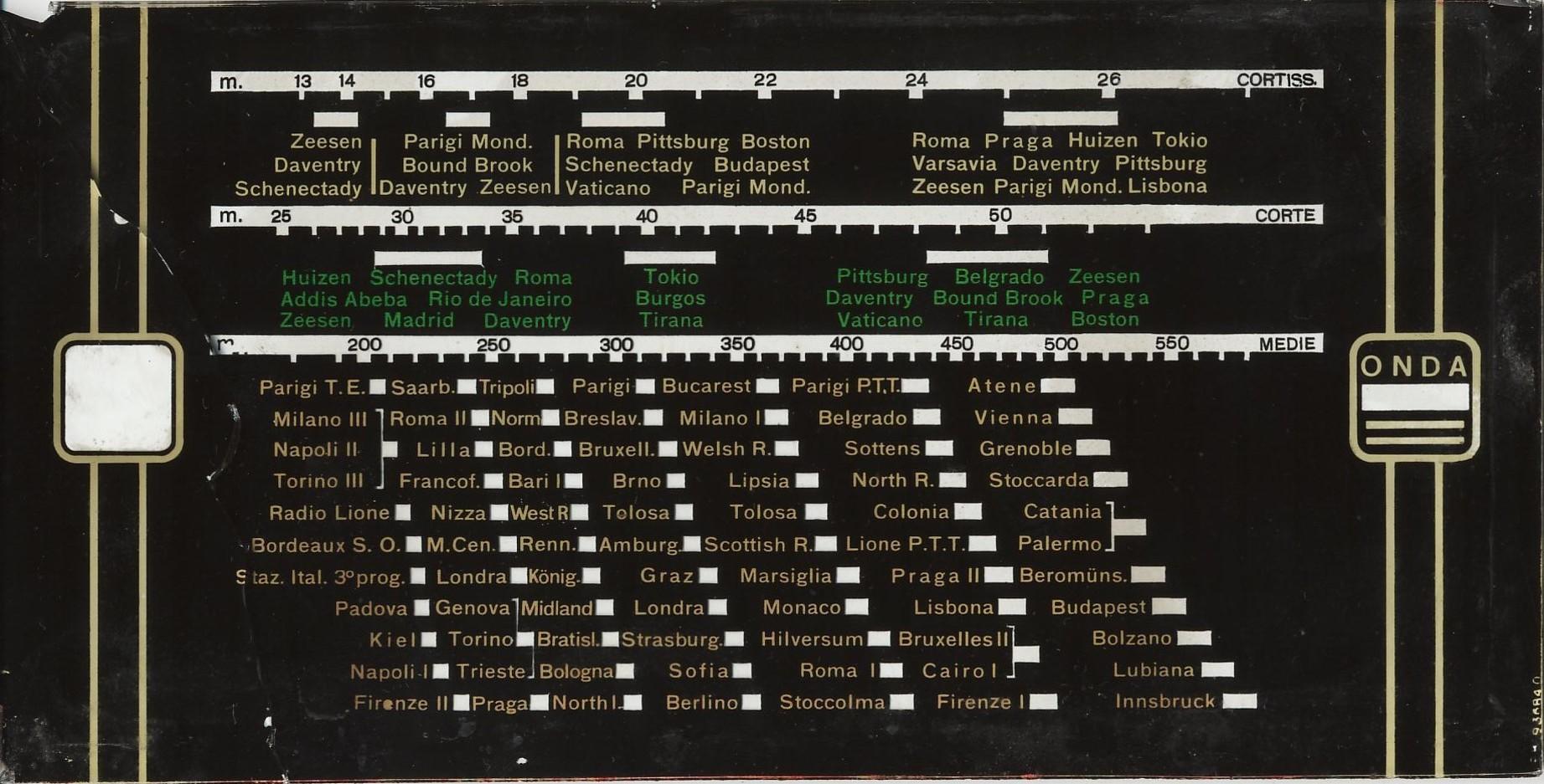 Pannello originale della radio 476 Philips