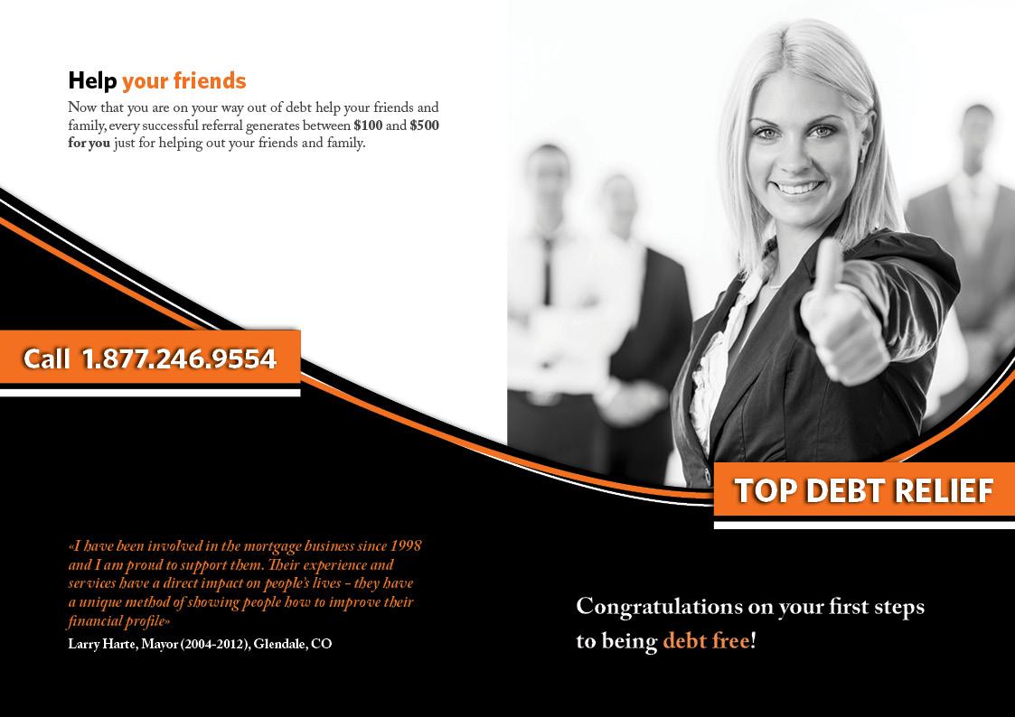 Brochure di Top Debt Relief - esterno