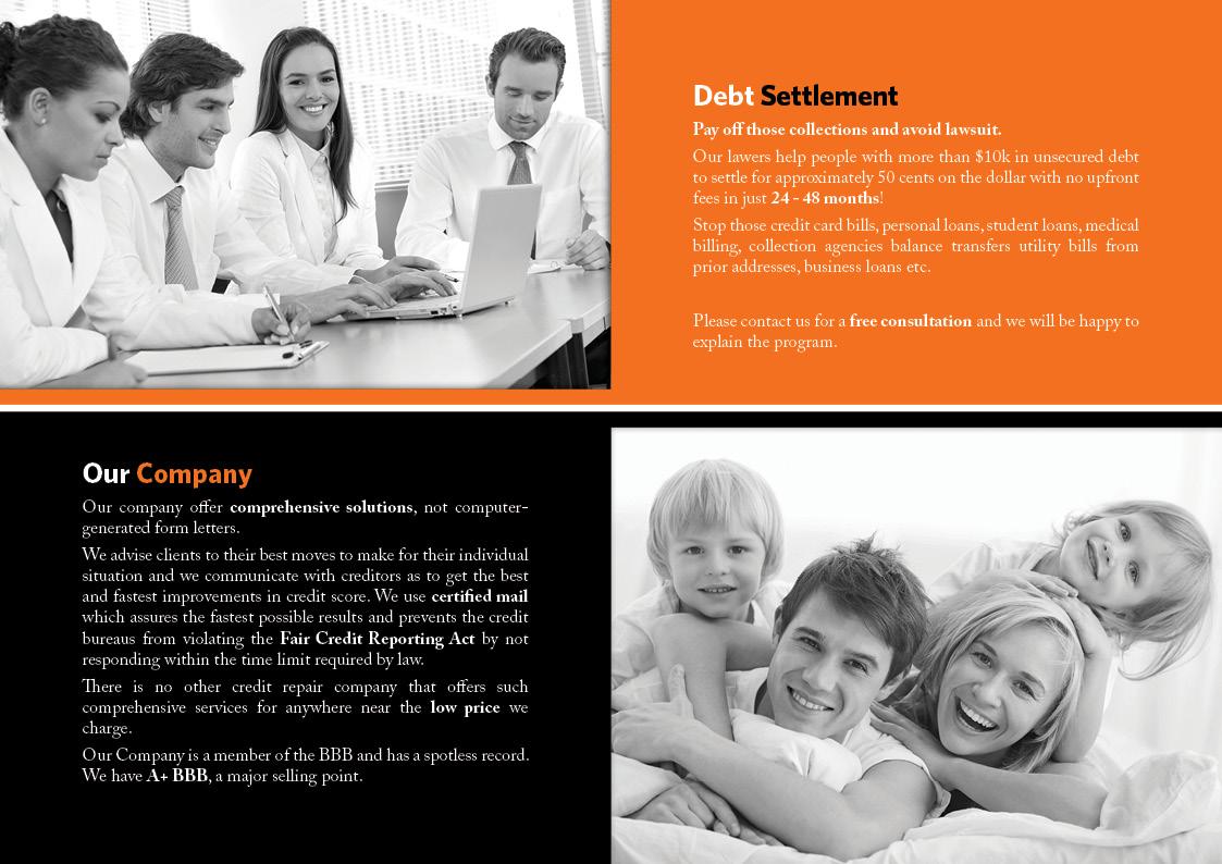Brochure di Top Debt Relief - interno