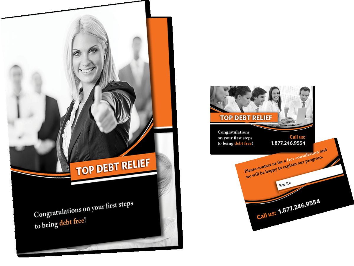 Brochure e biglietto da visita Top Debt Relief