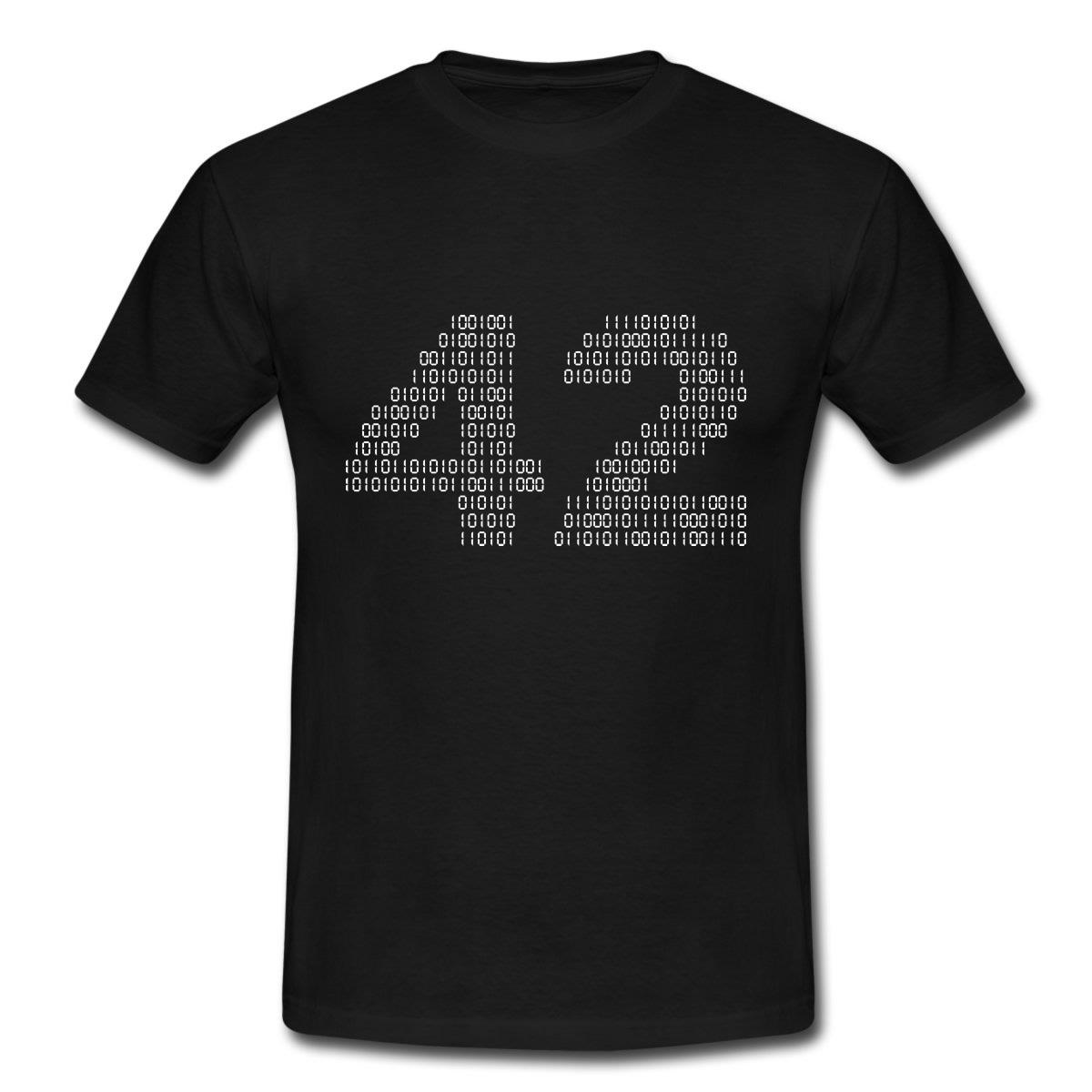 """Maglietta """"42"""" (Guida Galattica per Autostoppisti)"""