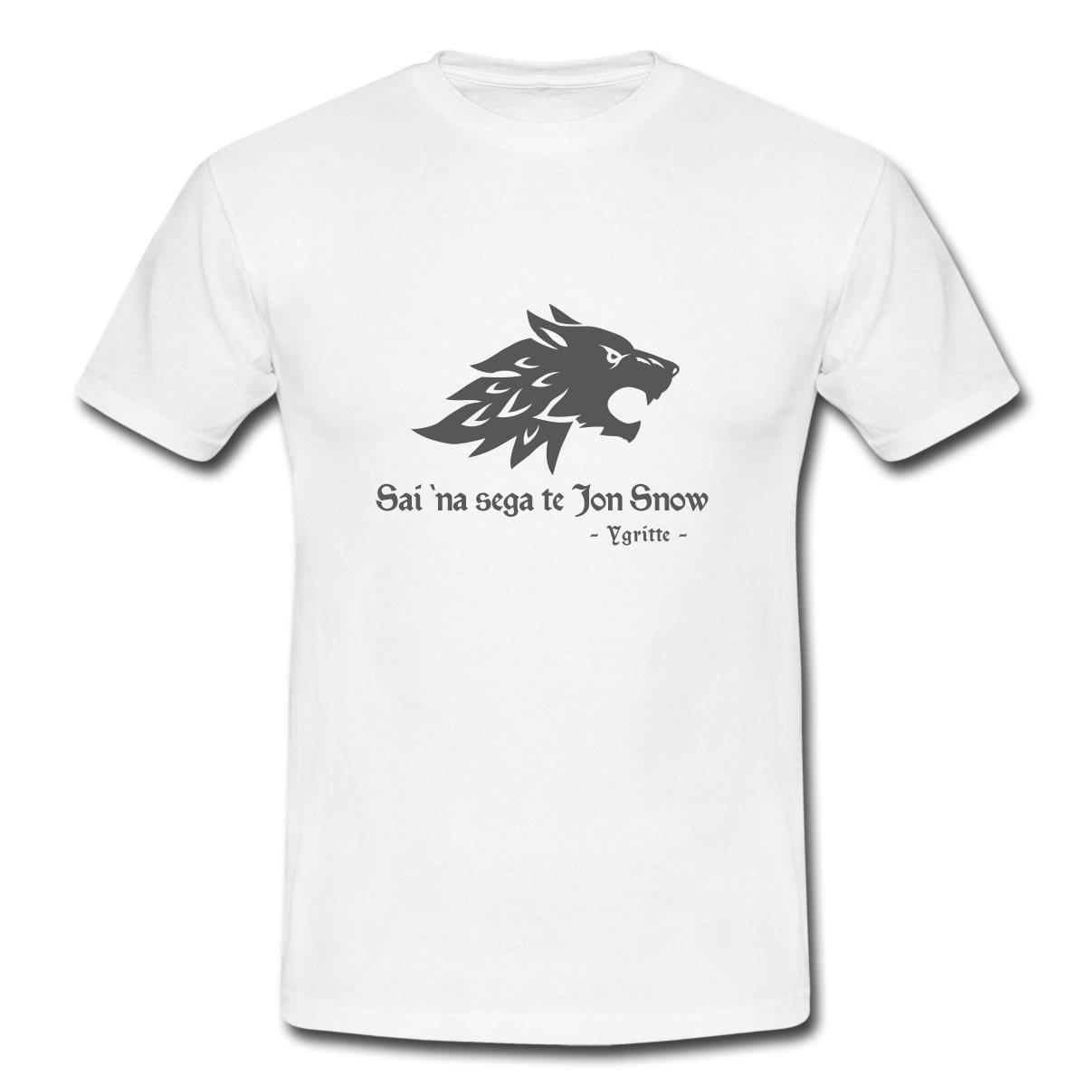"""Maglietta """"Sai na sega te Jon Snow"""" (Il Trono di Spade)"""