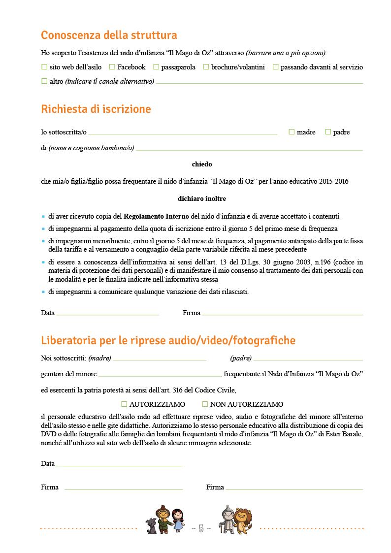 Modulo di iscrizione - pag5