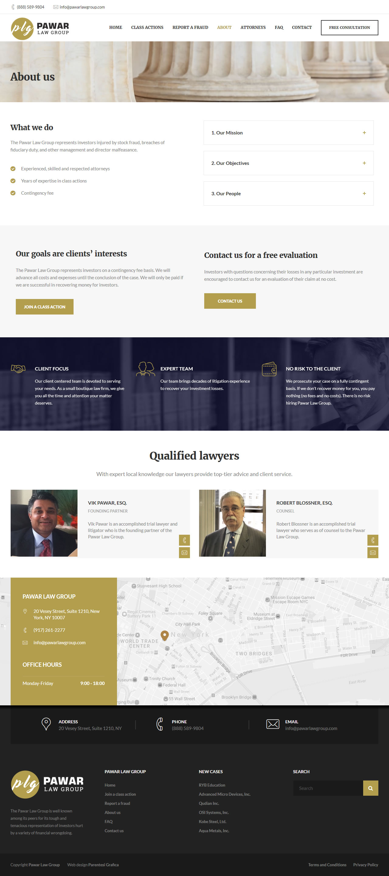 Pawar Law Group - about us page