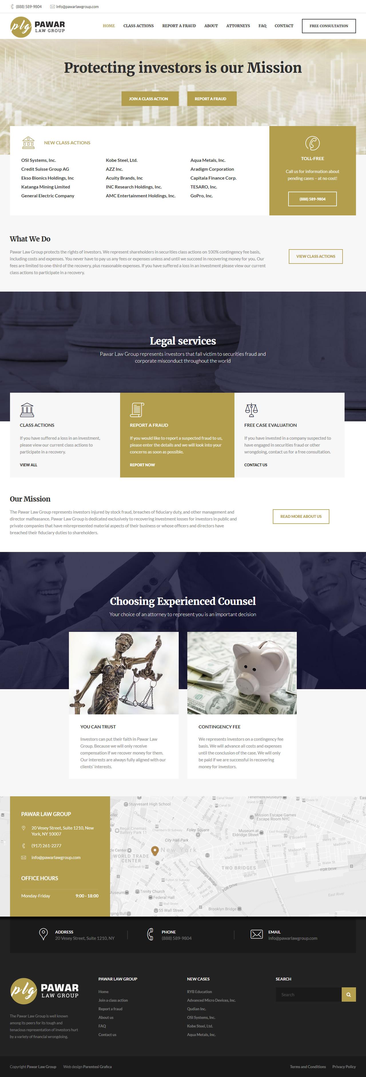 Pawar Law Group - homepage