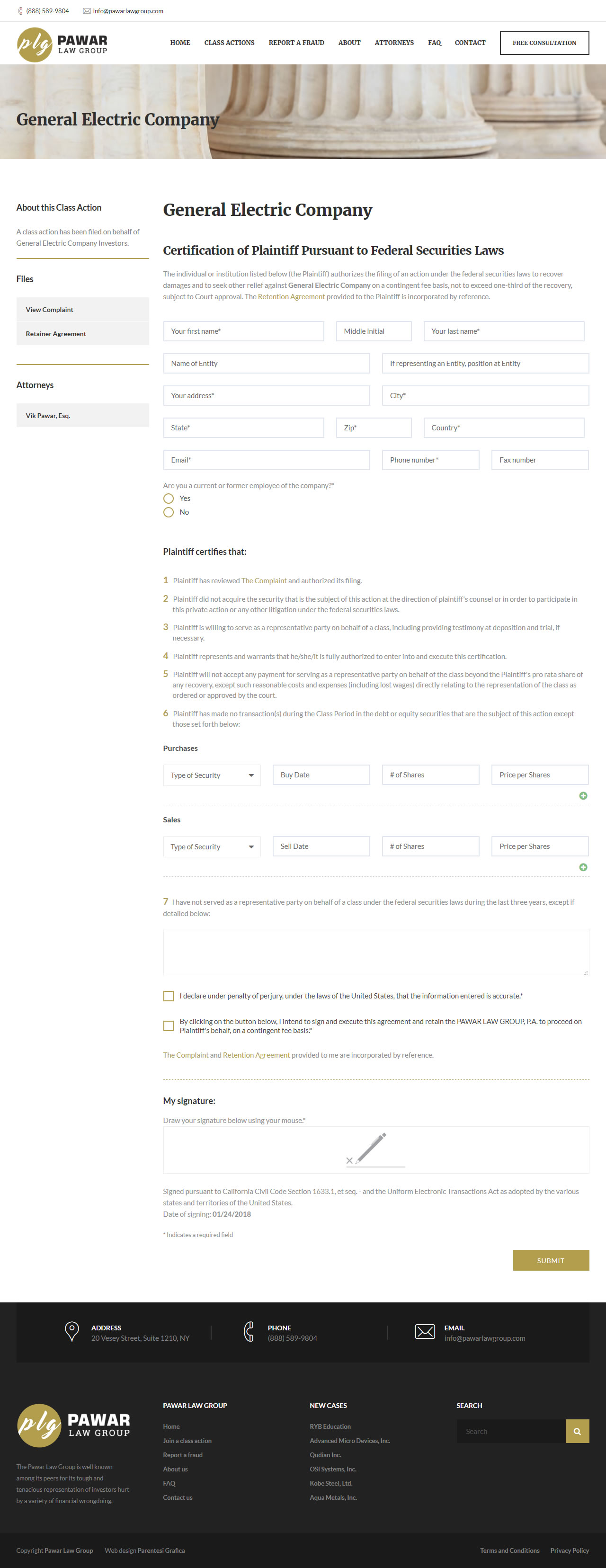 Pawar Law Group - join class action form
