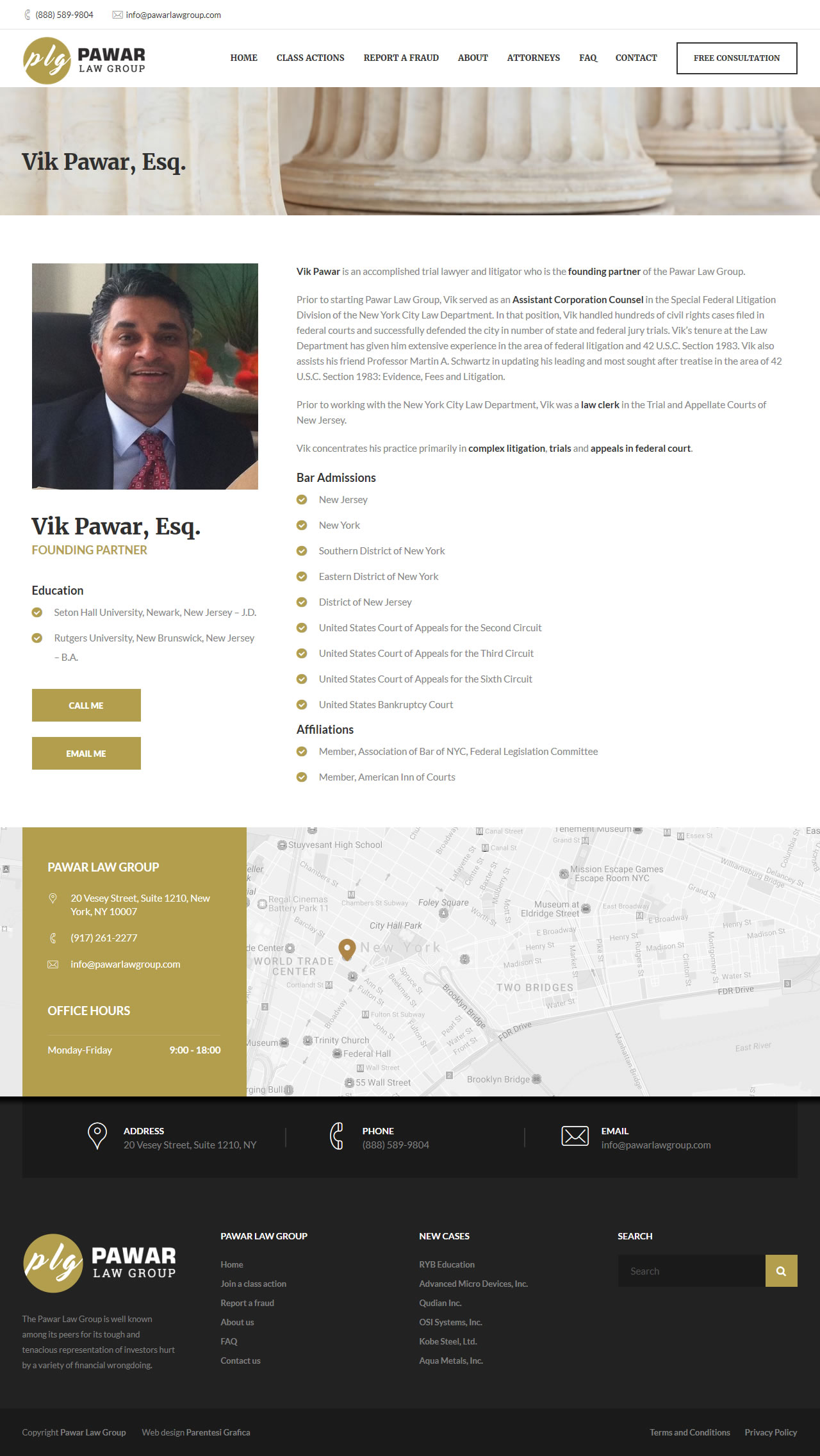 Pawar Law Group - lawyer page