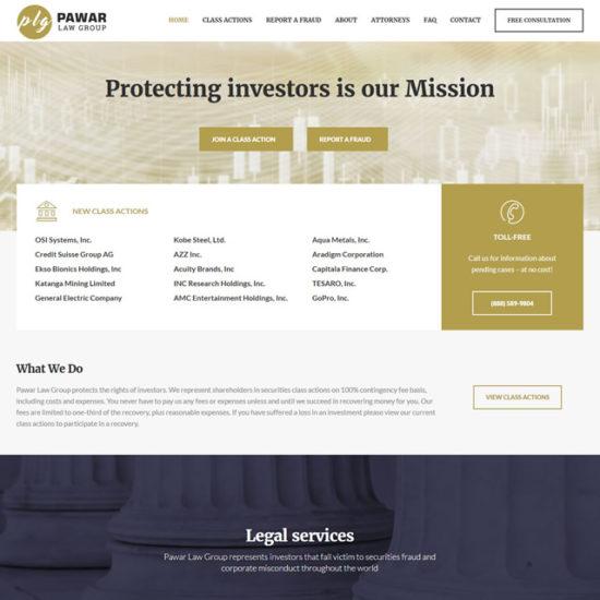 Pawar Law Group - creazione del sito web