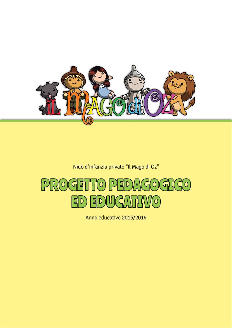 Progetto pedagogico ed educativo - copertina