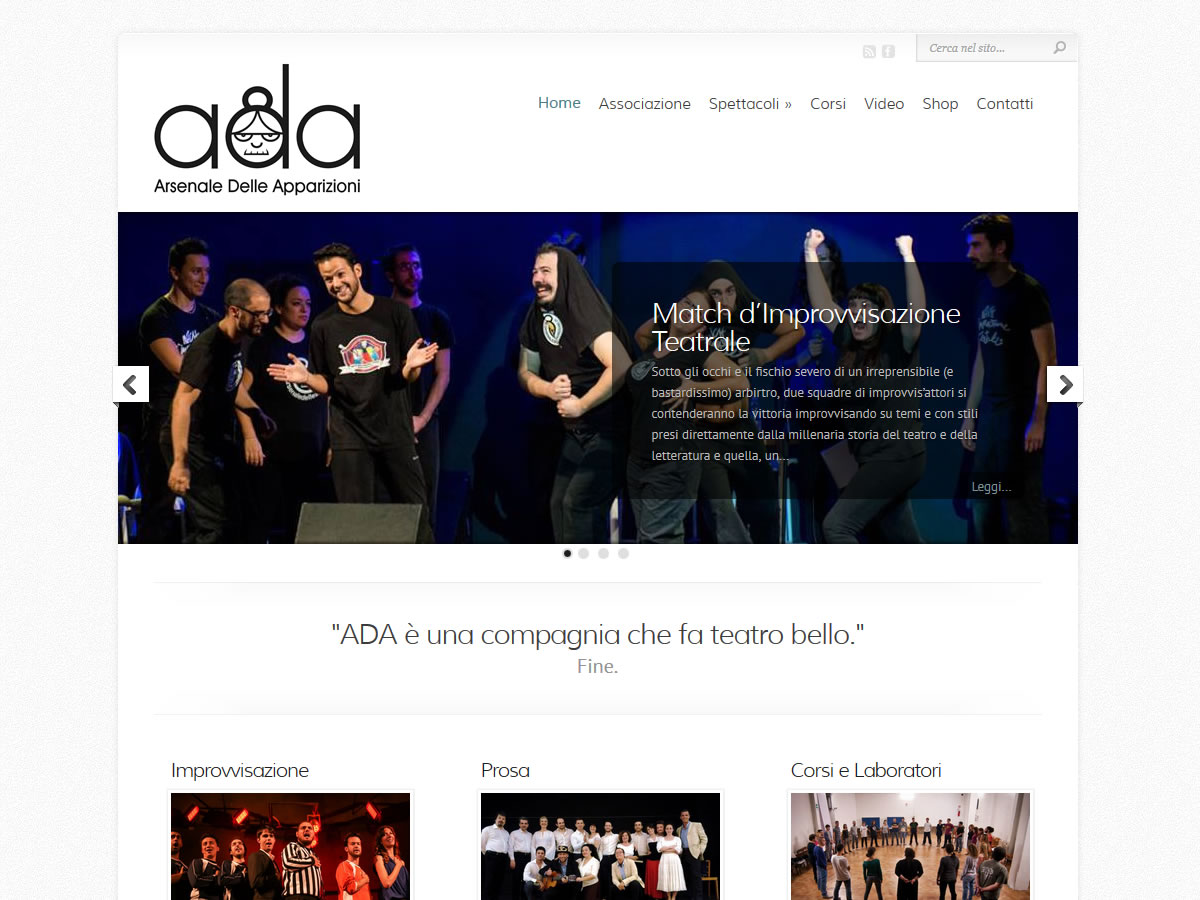 Sito web ADA - Arsenale Delle Apparizioni