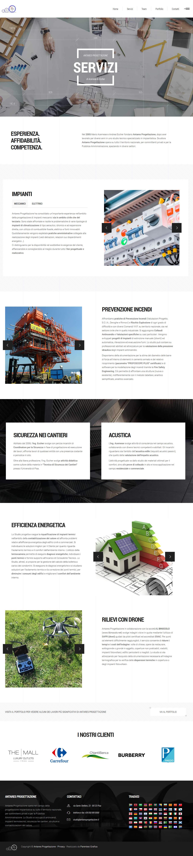 Sito web Antares Progettazione - pagina Servizi
