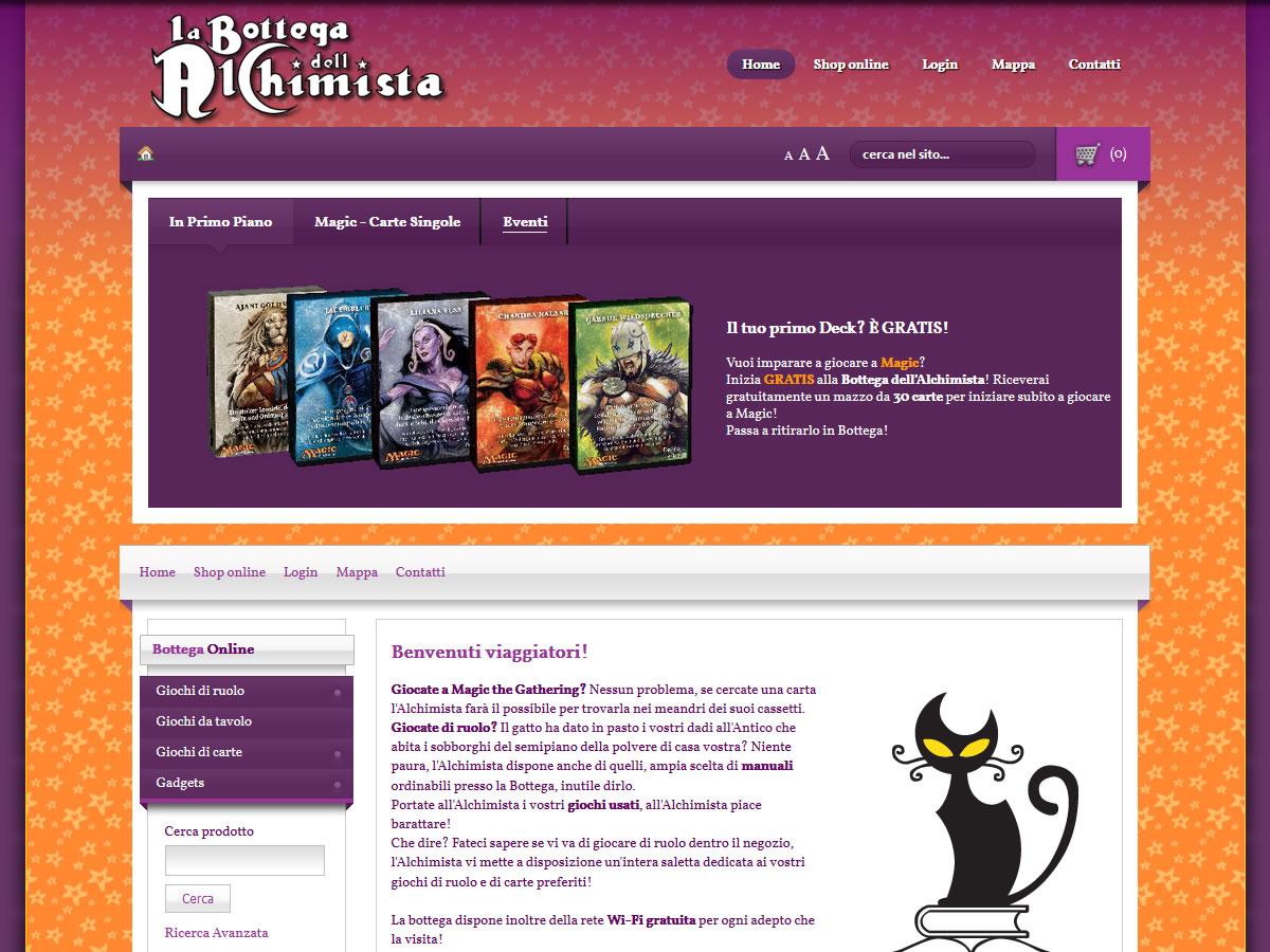 Sito web La Bottega dell'Alchimista