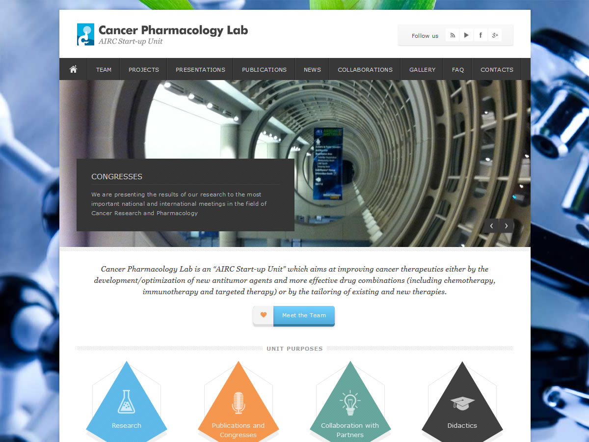 Sito web Cancer Pharmacology Lab