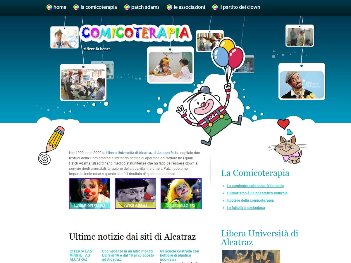 Sito web Comicoterapia