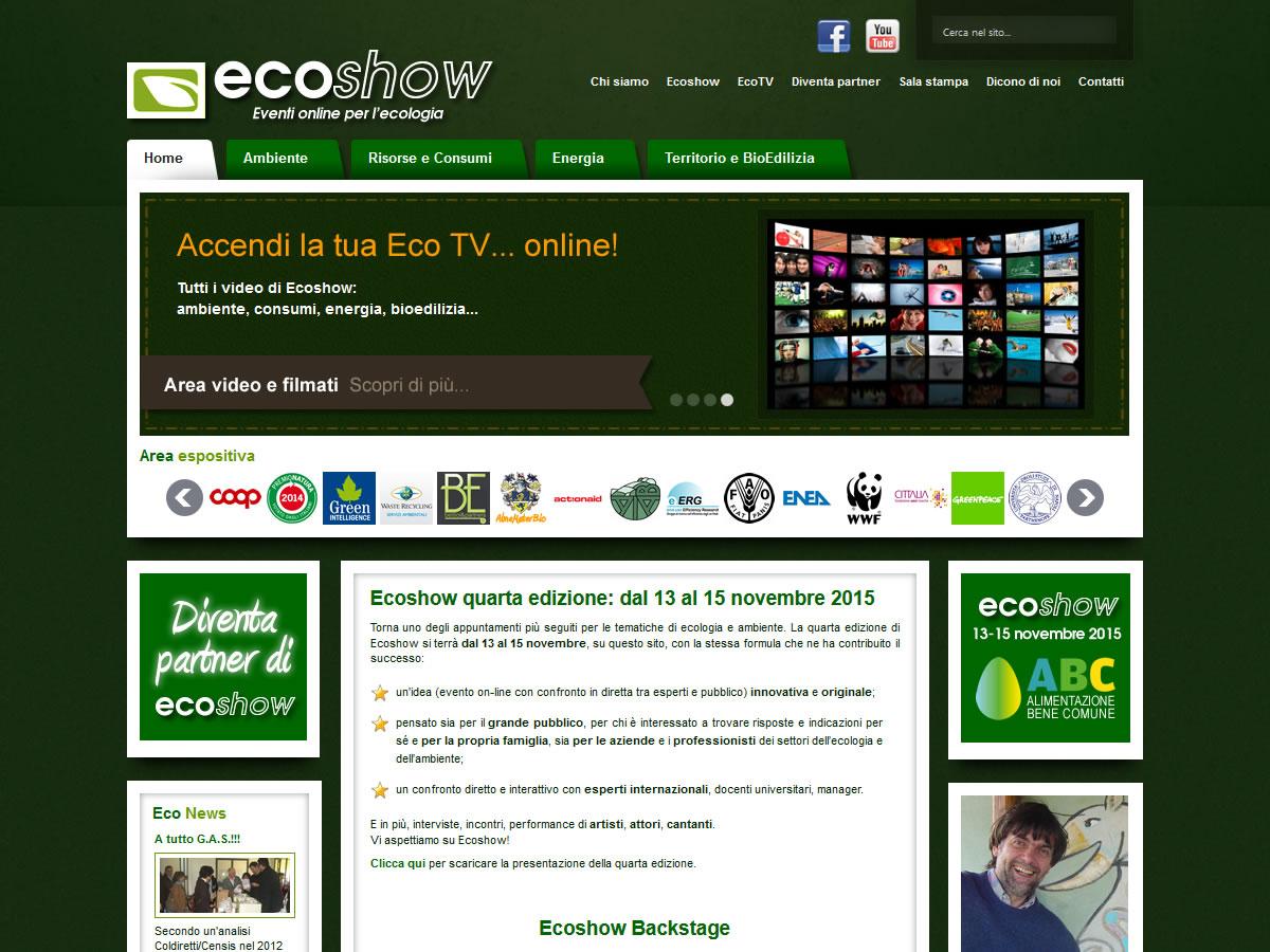 Sito web di ecoshow parentesi grafica for Sito web di progettazione edilizia