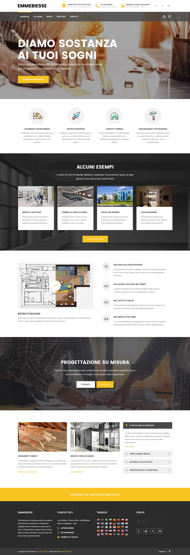 Sito web Emmebiesse - homepage