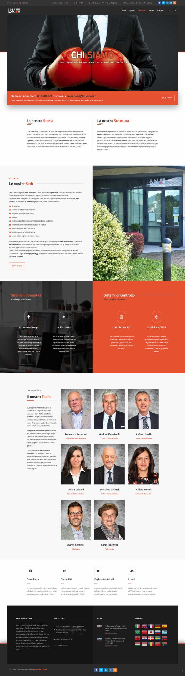 Sito web L&M Consulting - chi siamo