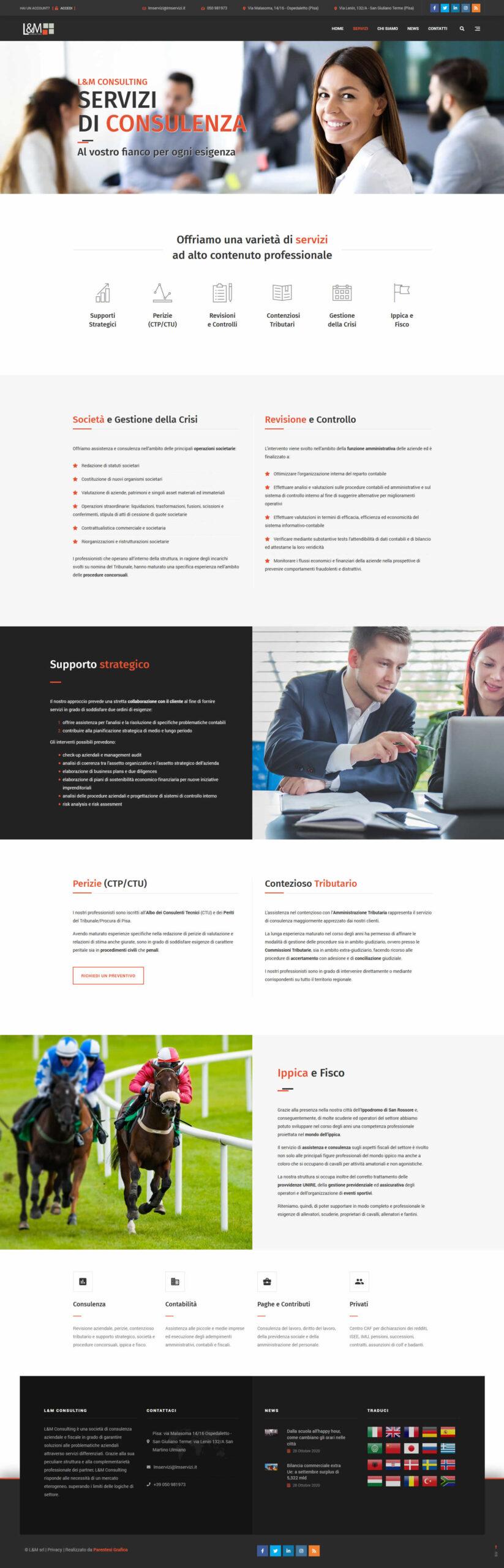 Sito web L&M Consulting - consulenza