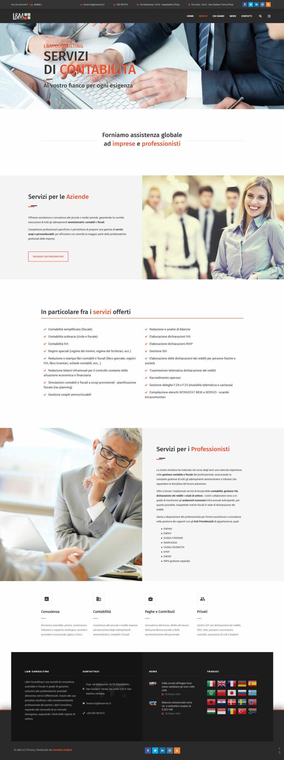 Sito web L&M Consulting - contabilità