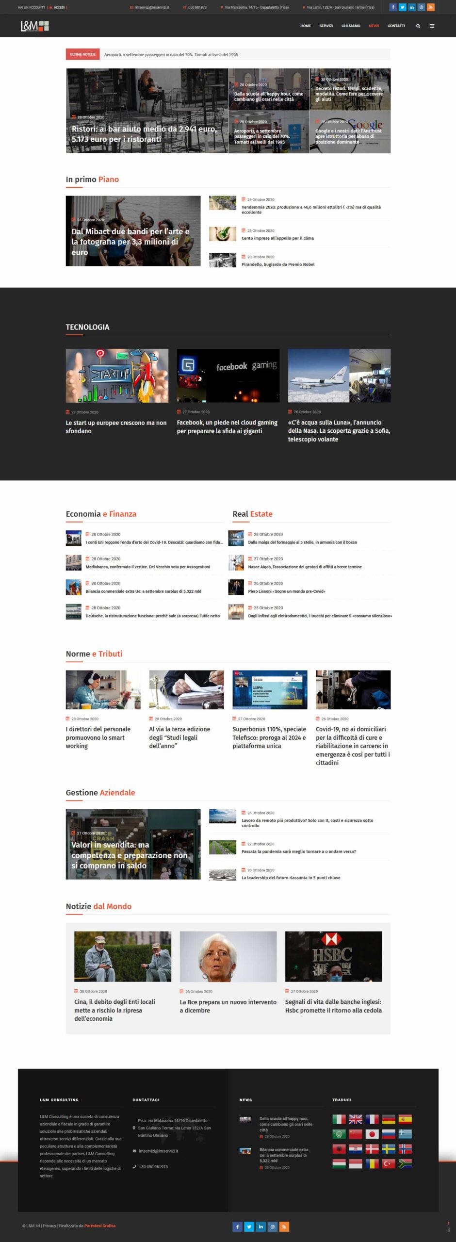 Sito web L&M Consulting - news