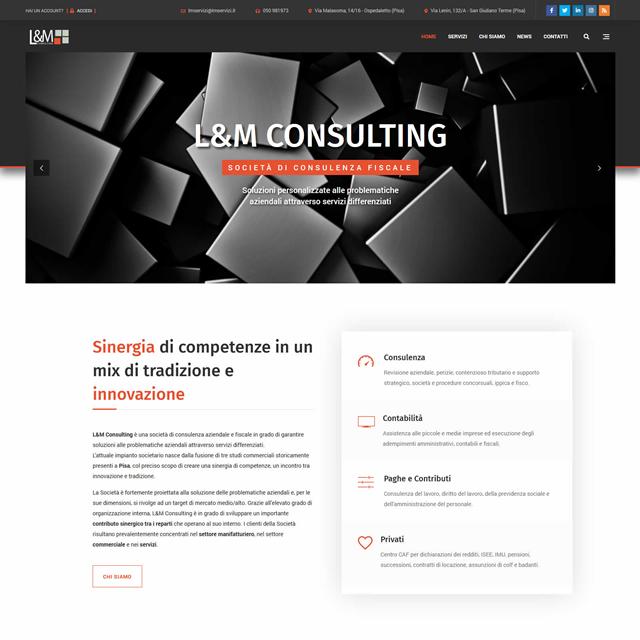 Creazione sito web L&M Consulting