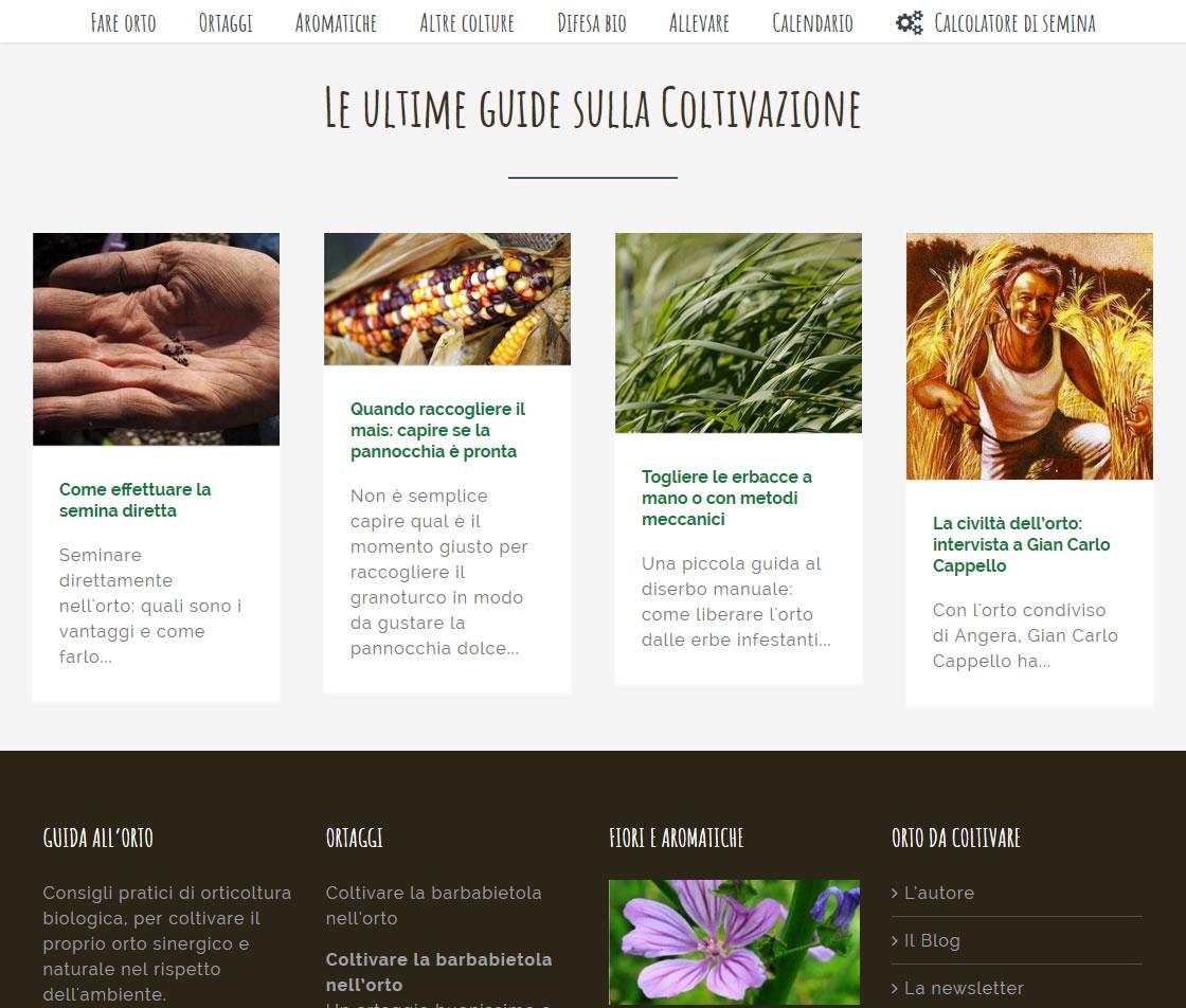 Restyling del sito web Orto da Coltivare