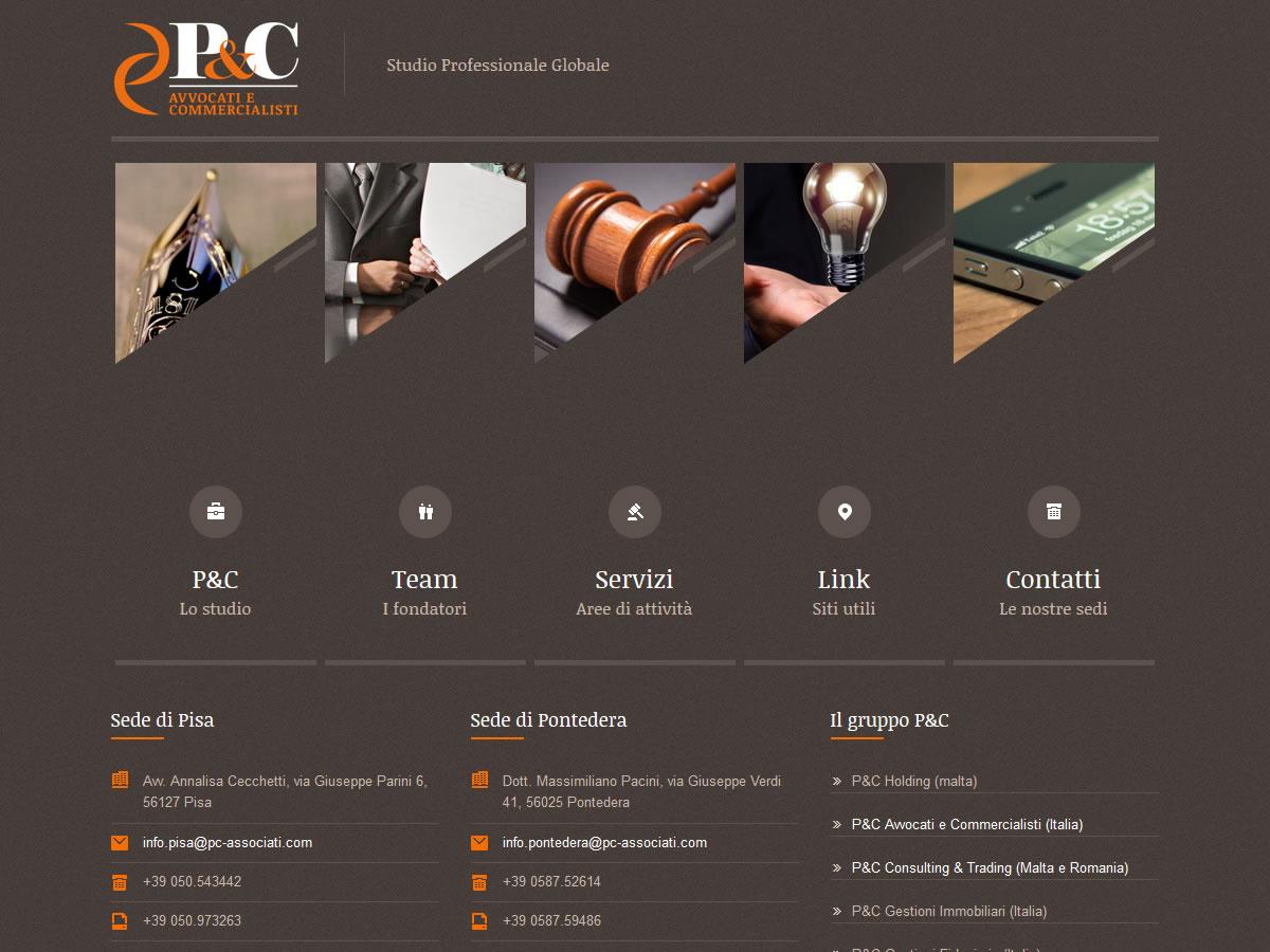 Sito web P&C Avvocati e Commercialisti
