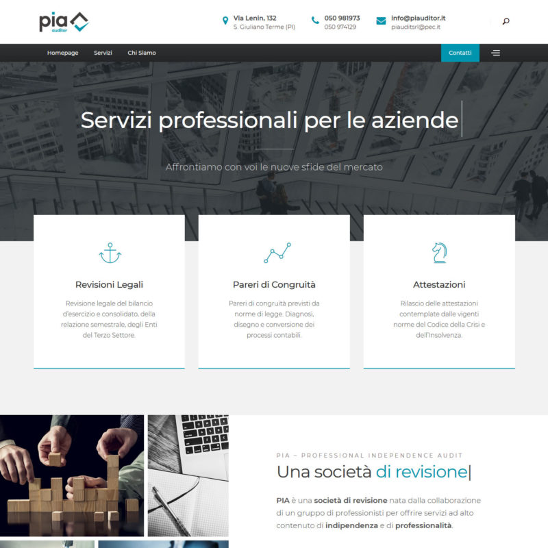 Sito web PIA - Professional Independence Audit