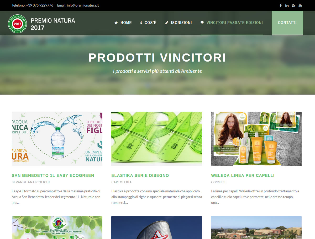 Sito web di Premio Natura