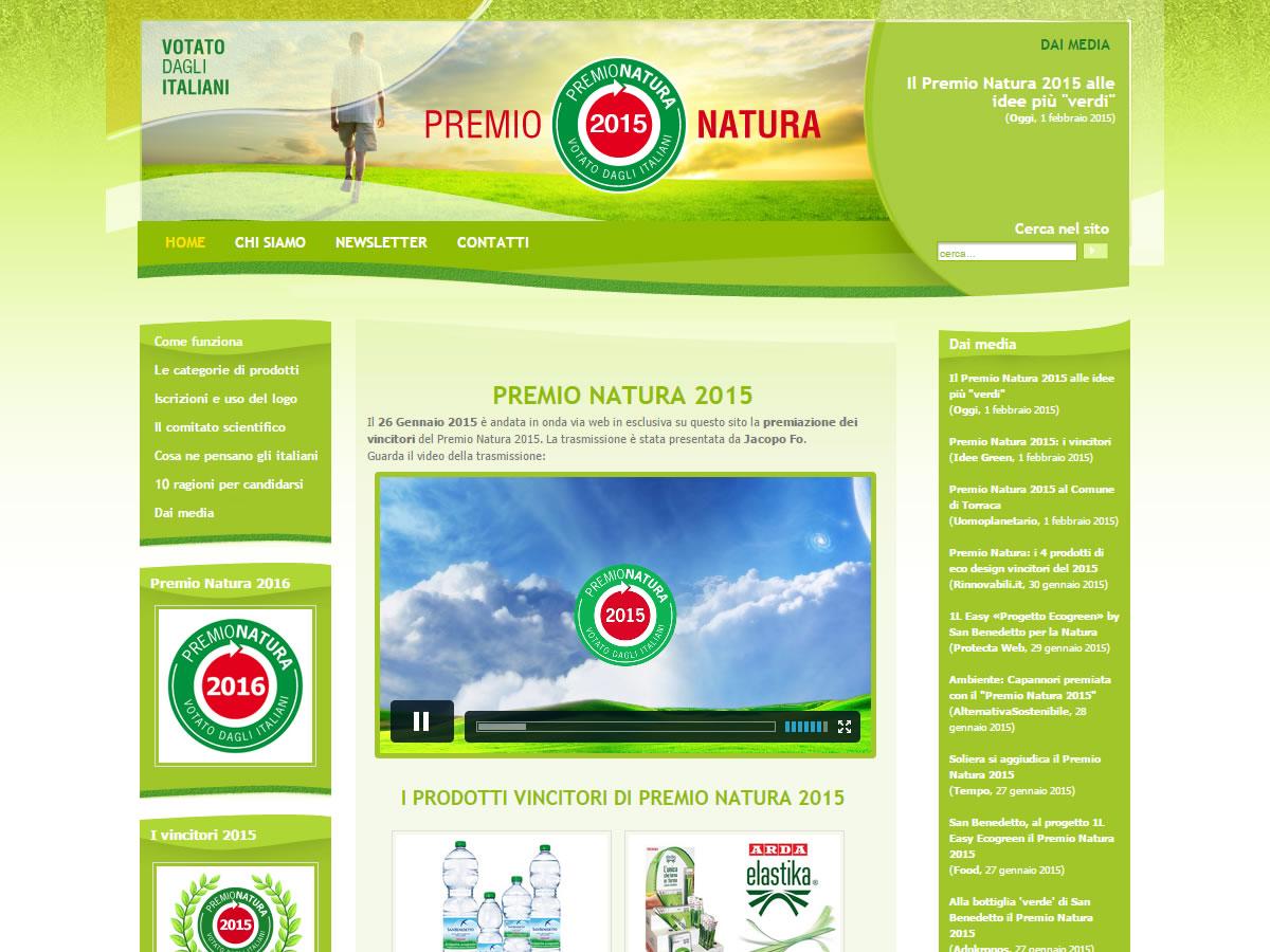 Sito web Premio Natura