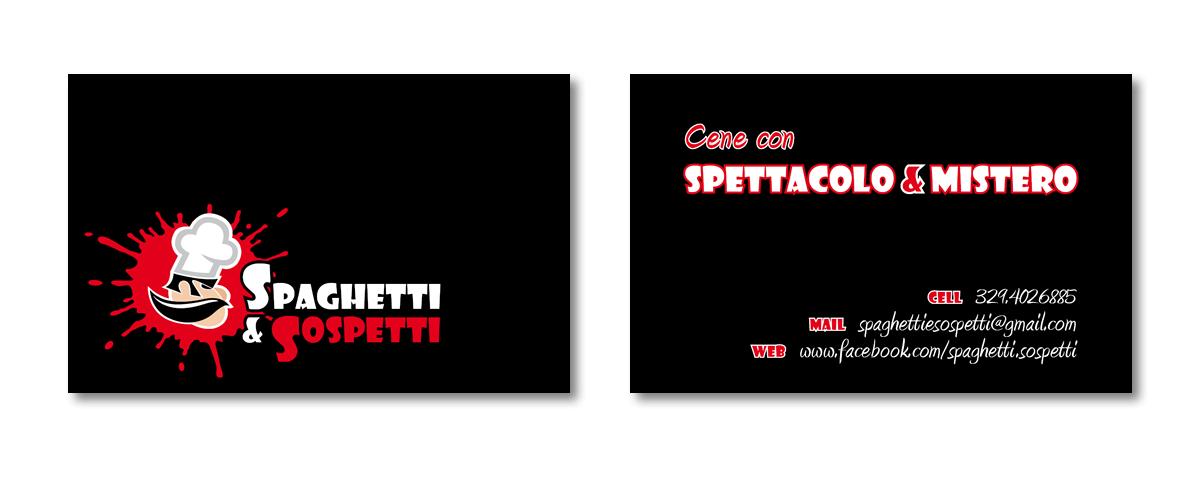 Spaghetti & Sospetti - biglietto da visita