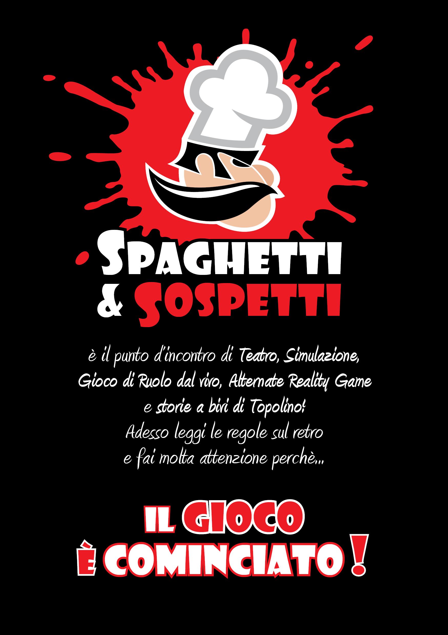 Spaghetti & Sospetti - flyer fronte