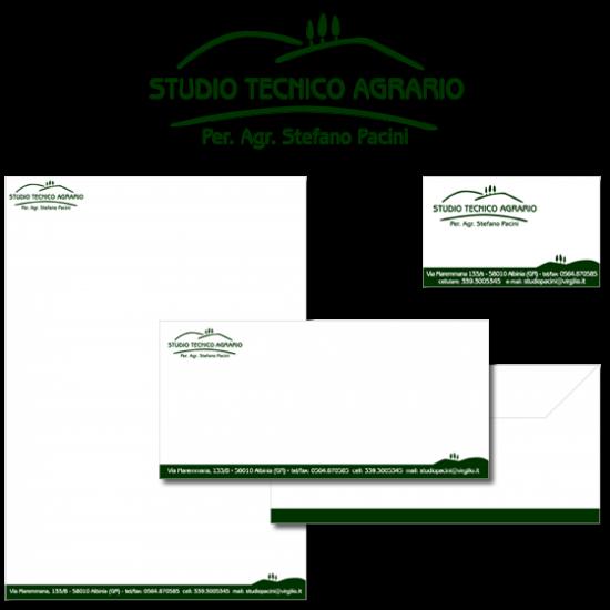 Logo e immagine coordinata dello Studio Tecnico Agrario Pacini