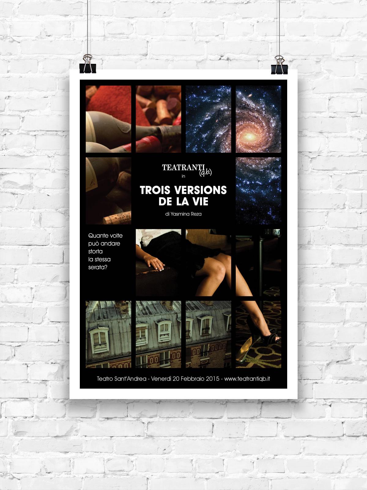 Trois versions de la vie - poster
