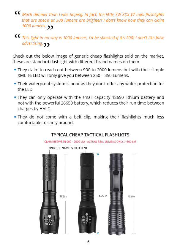Your guide for choosing the best Tactical Flashlight - pag 6